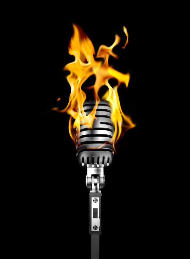 Credit RAWKUS: http://www.freeimages.com/photo/burning-mic-session-1153976