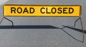 Credit: Adrian Van Leen http://www.freeimages.com/photo/road-closed-sign-2-1165289
